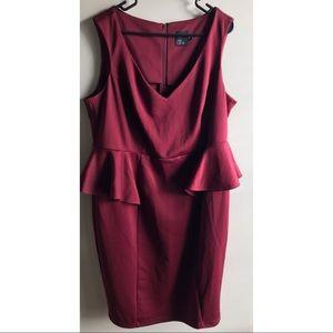 ASOS Curve Side Peplum Dress